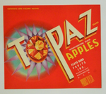 Topaz Brand Apples Fruit Crate Label