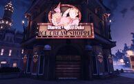 BioI Soldier's Field Dimwit & Duke Ice Cream Shoppe Exterior Closed