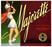 Majorette Brand Oranges Crate Label