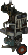 Machine Gun Turret BioShock Model Render