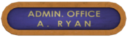 Admin Office Andrew Ryan Sign