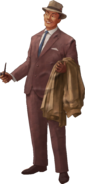Cut Out Businessman Model Render No Stand