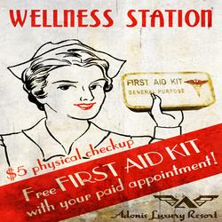 Adonis Wellness Station Poster