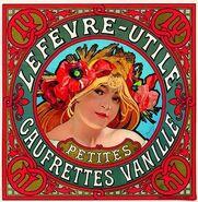 Alphonse Mucha - Lu petite gaufrette vanille Lithograph