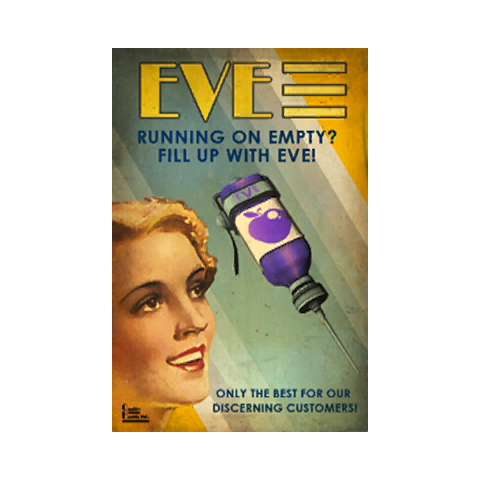 Publicidad de <b>EVE</b>, <i>revitalizador</i>