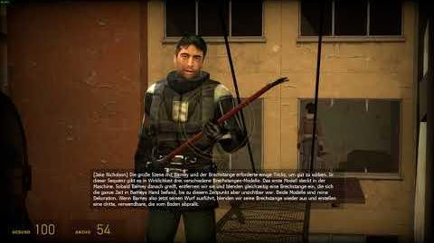 Half-Life 2- Episode One Barney Crowbar Scene explained