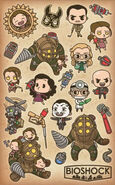 BioShock Rapture Sticker Sheet