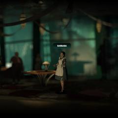 <i>Barbara vista en una sección de la página oficial de BioShock 2.</i>