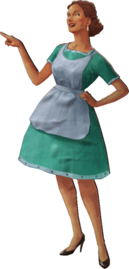 Cut Out Housewive Model Render No Stand