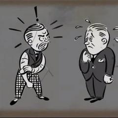 <i>Caricatura del Toasty (izquierda).</i>