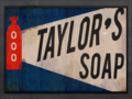 Taylors Soap sign.png