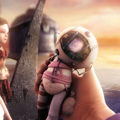 Eleanor (final bueno) recibiendo el mismo muñeco que ella había hecho para su padre, el <a href=