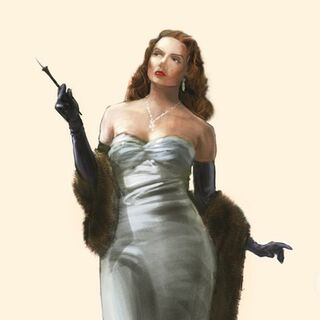 Ilustración conceptual de Blanche antes de convertirse en Splicer.