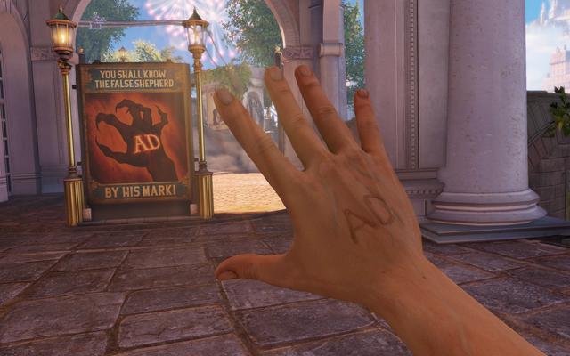 File:BioShock Infinite - Town Center - Raffle Square - False Shepherd Sign f0817.png