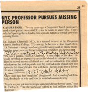Steinman missing