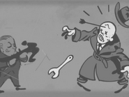 Jockey cartoon