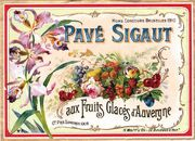 Pave Sigaut Candied Fruit Label