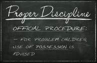Chalkboard Proper Disicpline