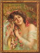 Delphin Enjolras - Biscuits Lefèvre-Utile. Jeune fille aux cymbales Poster 1909