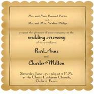 Porter Wedding Invitation