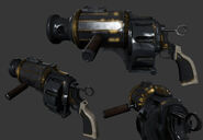 Pig Flak Volley Gun render