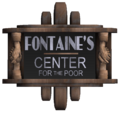 Fontaine's Center for the Poor Sign.png