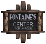 Fontaine's Center for the Poor Sign