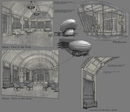 Civilian Airship Interior Concept Art