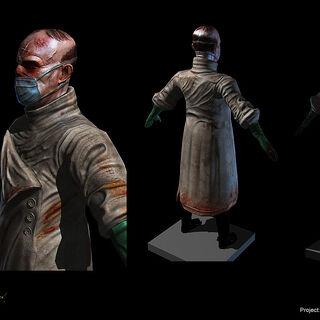 <i>El modelo final del Dr. Grossman visto dentro de BioShock.</i>