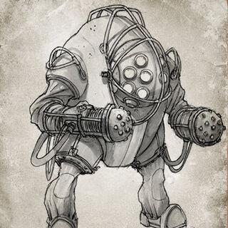 Concepto inicial del Bouncer/Gorila.