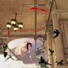 Booker usa Cuervos asesinos en el trailer del juego del E3 2011.