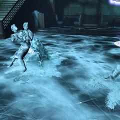 <i>Enemigos congelados dentro de una zona húmeda.</i>
