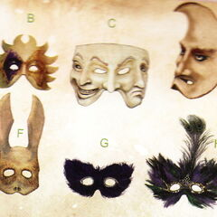 <i>Bocetos conceptuales de máscaras para <a href=