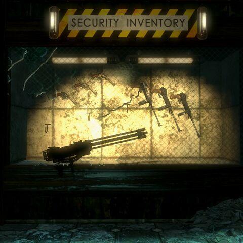 <i>Ryan Amusements içinde bulunan Makineli Tüfek.</i>