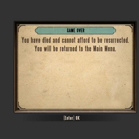 <i>La pantalla de Gamer Over (Juego terminado).</i>