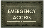 Emergency Access sign