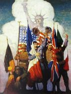 The Victorious Allies - NC Wyeth