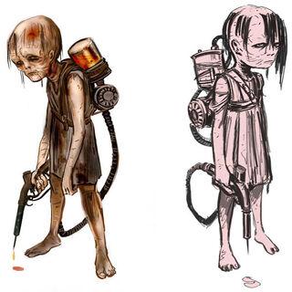 Segundo diseño: pequeñas zombis.