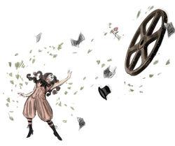 BioI Female Magician Telekinesis Attack Concept