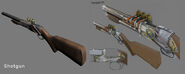 BioShock Shotgun Model and Concept Art