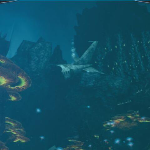 El avión desde la vista de Delta en BioShock 2.