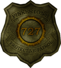 Booker Pinkerton badge