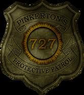 Booker Pinkerton badge