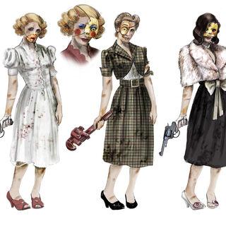 <i>Ilustración conceptual para los splicers femeninos de los Almacenes Fontaine's.</i>