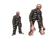 Before & After Freak Prisoner Concept Art