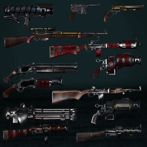 Bioshock inifinite weapons by armachamcorp-d6484n5