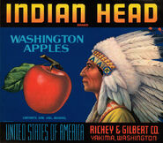 Indian Head Washington Apples ad