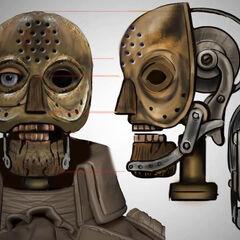 Ilustración conceptual de la cara del Patriota sin la máscara de cera