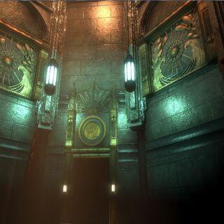 Interior del faro.
