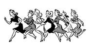 Running Shopping Women Clip Art Pin Money Women's Apparel Ad